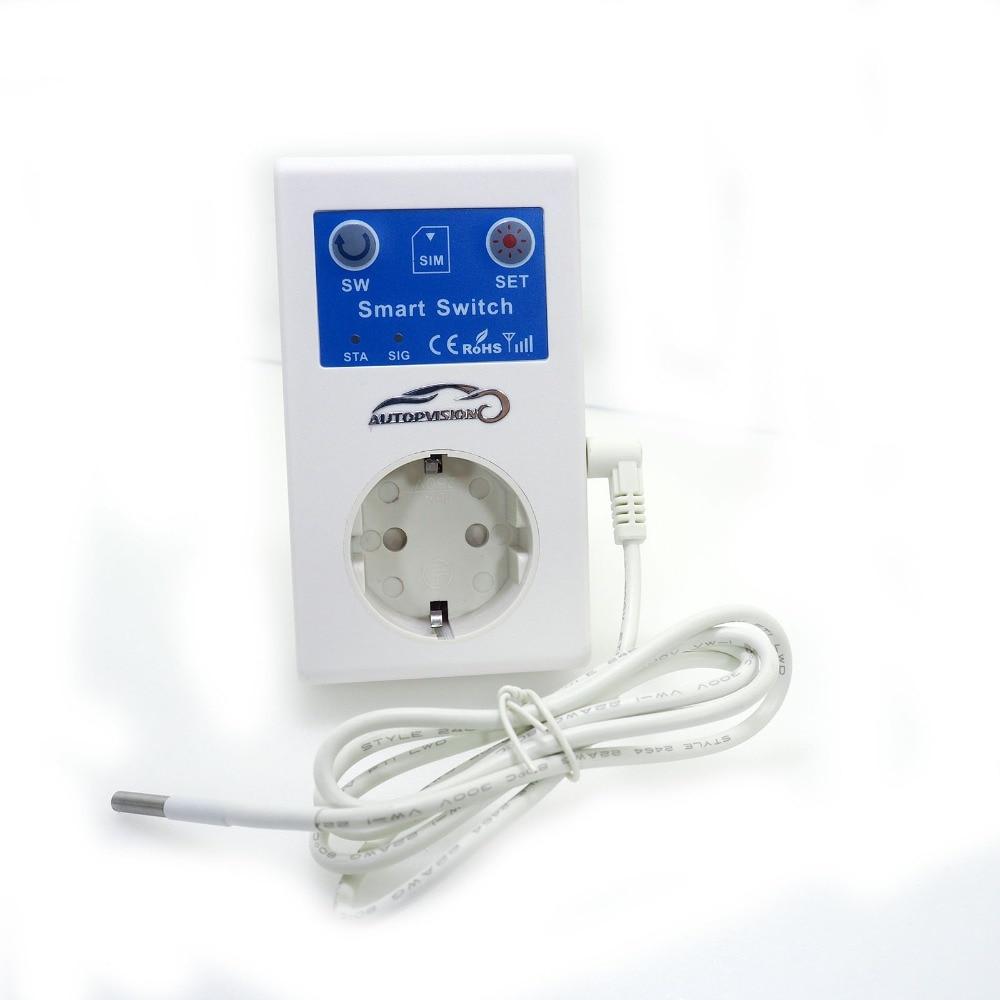SC1  GSM Call/SMS Remote Control Universal Smart EU Plug Socket Timing Switch Temperature Controller With Sensor Support Jog Set