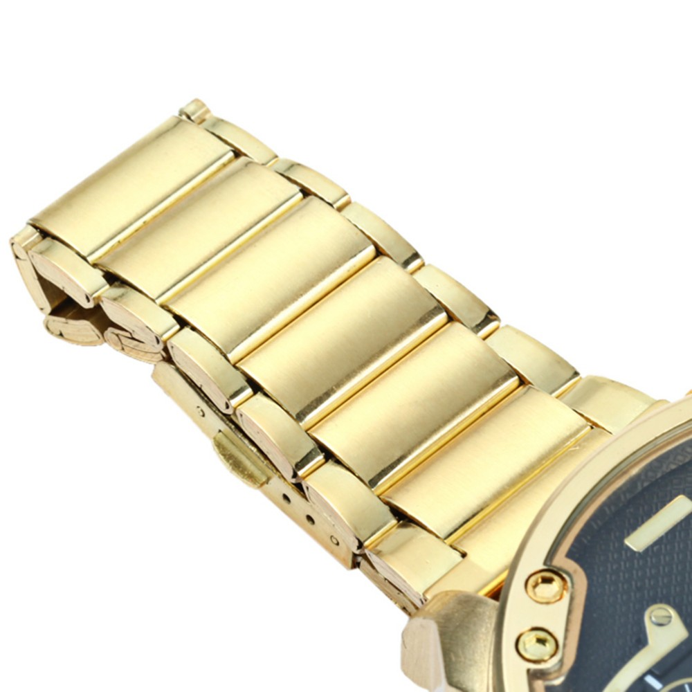 2018 Fashion Gold Watch Men Watches Top Brand Luxury Famous Wristwatch Male Clock Golden Quartz Wrist Watch Relogio Masculino