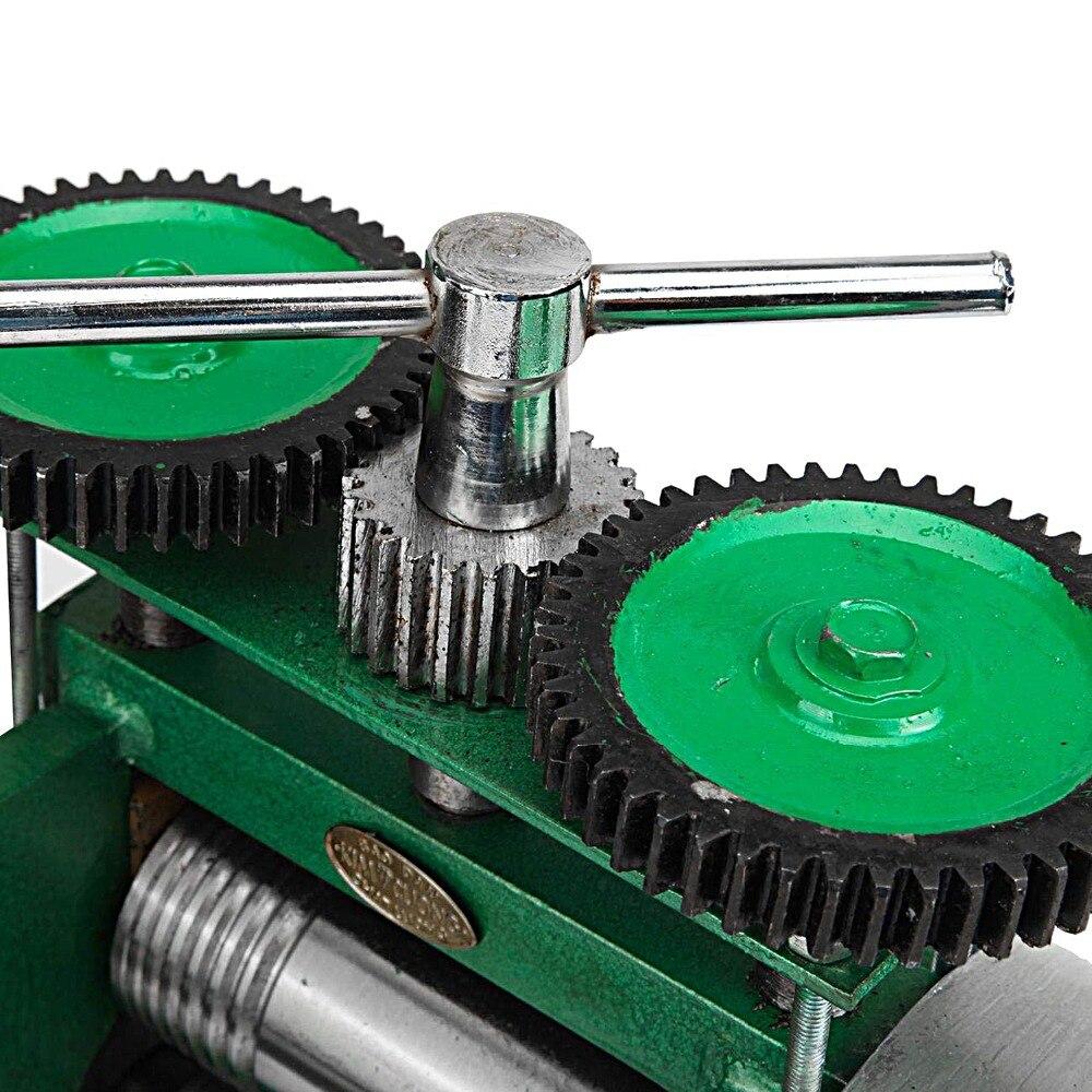 Máquina de laminación combinada rodillos metálicos manuales diseños de aplanamiento herramientas para hacer joyas herramientas - 6