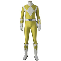 Costume For Tiger Ranger Boy Zyuranger Cosplay Costume Outfit Superhero Halloween Adult Men Party Custom Made With Boots
