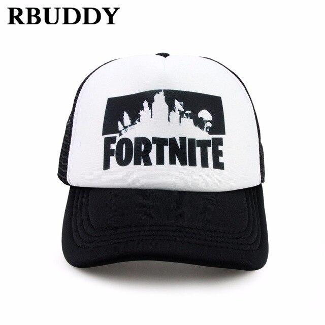 RBUDDY Fortnite 3D Print Baseball Caps Hip Pop Streetwear Snapback Summer Trucker Dad Hat for Women Men Gift Outdoor Mesh Hats 2