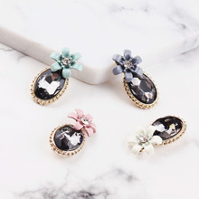 DIY handmade jewelry accessories alloy diamond bracelet necklace pendant earrings flowers