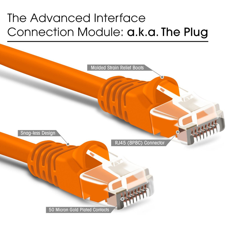 4Ft Cat.5E Shielded Patch Cable Molded Orange
