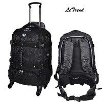 Letrend Новая модная многофункциональная дорожная сумка для мужчин, багаж на колёсиках, Спиннер, тележка, рюкзак, пансион, съемный чемодан на ба
