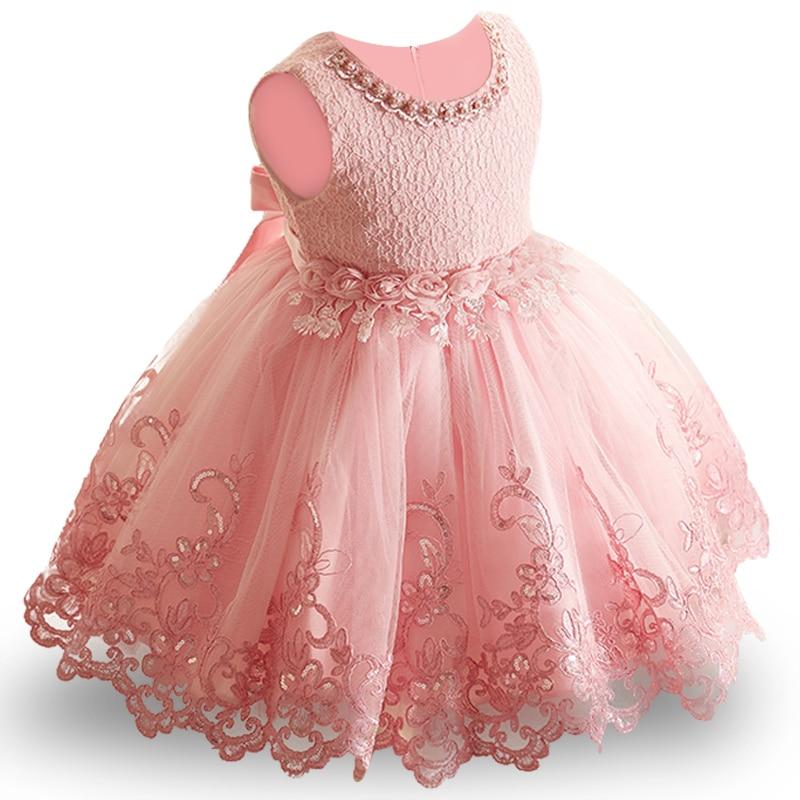 2018 New Lace Baby Girl Dress 9M-24M 1 Years Baby Girls Birthday Dresses Vestido birthday party princess dress ...