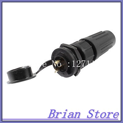 AC 125V 7A 5-7mm Waterproof Cable Gland 2-Pin Connector Aviation Plug + Cap ac 125v 4a 4 pin male female cable quick connecting aviation plug