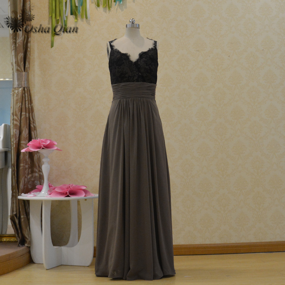 Online buy wholesale long grey bridesmaid dresses from china long 2016 lace long grey bridesmaid dresses v neck floor length elegant women dress for wedding party ombrellifo Images