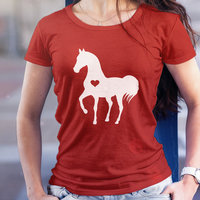 Heart Horse Shirt Horse Tshirt Gift For Horse Lover Equestrian Gifts Horse Gifts Horse Clothing Horse