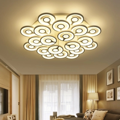 Surface Mounted Modern smart LED Ceiling Lights Light Fixture Indoor Lighting remote Control Ceiling Light Fixtures