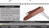 maikes натуральной кожи часы браслет часы аксессуары тонкий ремешок черный ремешок для ДГ часы Даниэль Веллингтон группа