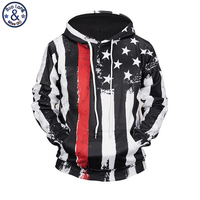 Mr BaoLong Brand Stripes American Flag 3D Printed Black Hooded Hoodies Men S Drawstring Hoodies Pullover