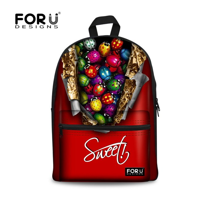 Aliexpress.com : Buy Unique Designer Candy Print Children School ...