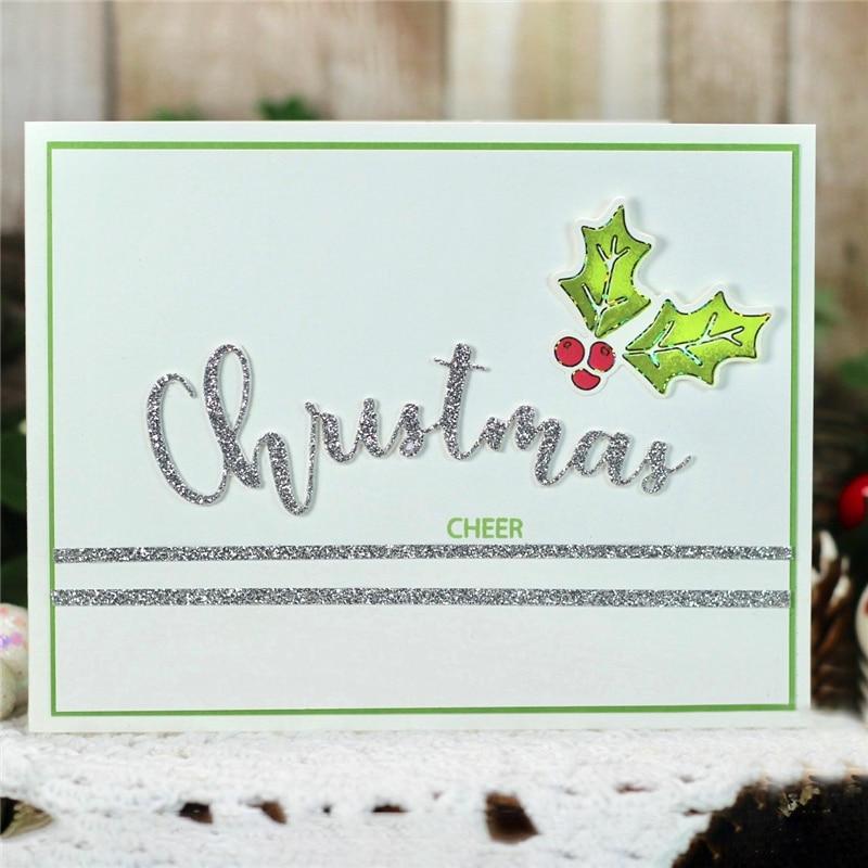 Eastshape Word Christmas Element Metal Cutting Dies Scrapbooking Letters Die Cut for Card Making DIY Embossing Craft Dies New in Cutting Dies from Home Garden