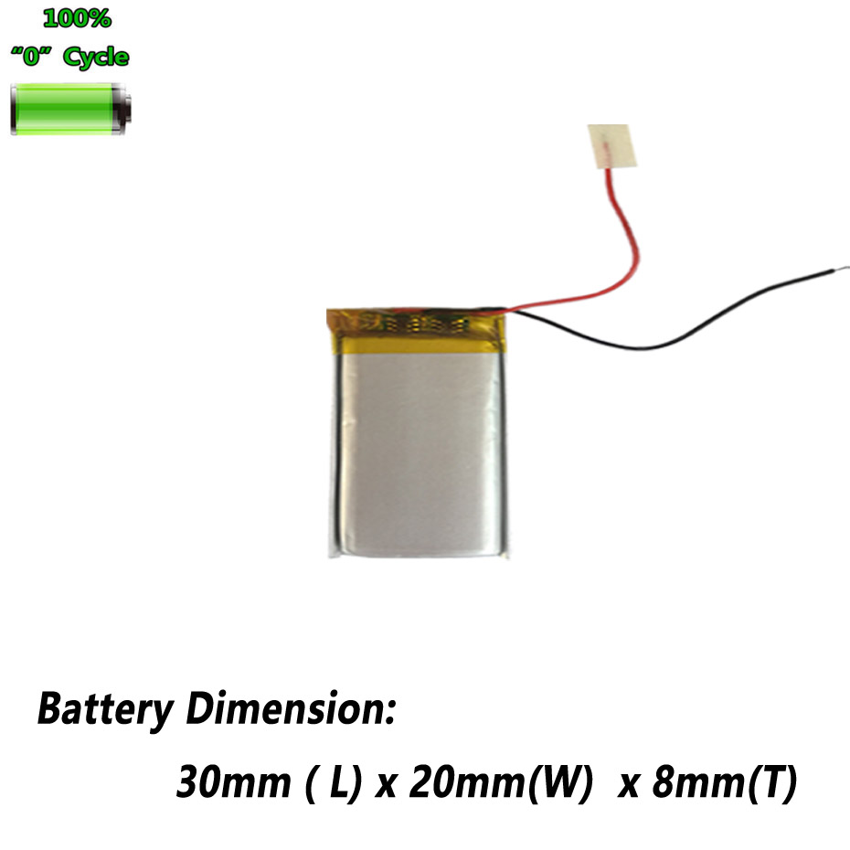 <font><b>3.7V</b></font> <font><b>400mAh</b></font> 802030 Battery For Smart Watch Bluetooth headset Toys Wireless Mouse LED Speaker GPS PDA Power Bank Accumulator AKKU image