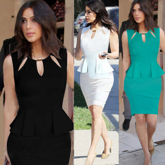 New Kim Kardashian Style Celebrity Womens Y Dresses Party Night Club Dress Bodycon Evening Elegant Clubwear