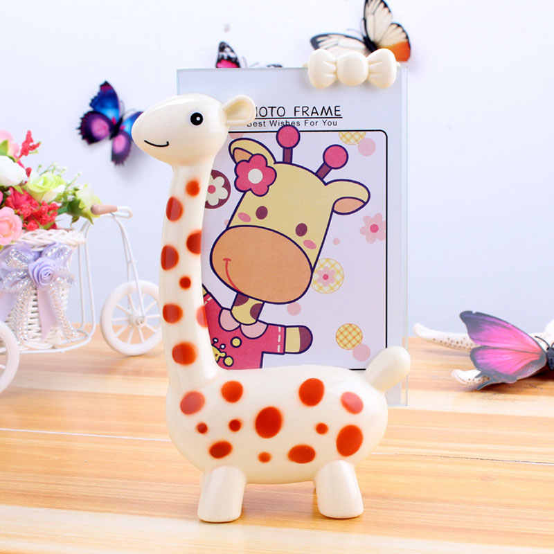 Creative Carton Giraffe Photo Frame Decor Kids Child Craft Toy Kits  Picture Frames 5 6 inch 4 color