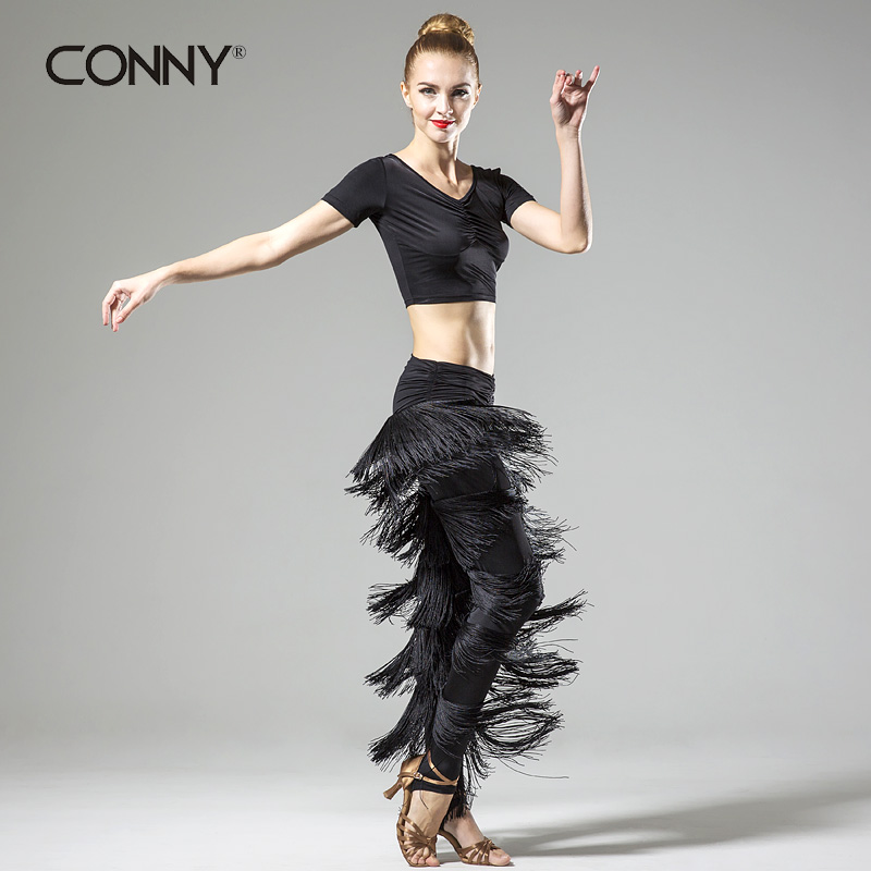 Latin Dance Dress For Top Fashion Ballroom Dress Sale Microfiber Women Latin Dance sexy New Style Tassel Pants Set