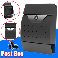 Modern Stainless Steel Mail Box Case Metal Newspaper Letter Mailbox Waterproof Post Box Lockable Box Garden Ornament