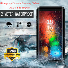IP68 Waterproof Case for Samsung Galaxy Note 9 8 360 Full Cover Protection S9 S8 Plus Shockproof Kickstand