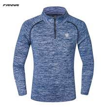 New Arrival Men s Running Shirts Long Sleeve Casual Striped Jersey Quick Dry Fitness Tights Elastic