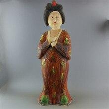 6 старинная китайская Liao Трехцветная печь фарфоровая статуэтка/скульптура, домашнее украшение, коллекция и украшение