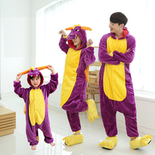 Women Unicorn Pajamas Kids for Mom and Me Family Pyjamas Winter Flannel Nightie Animal Onesies Couple Stitch Sleepwear