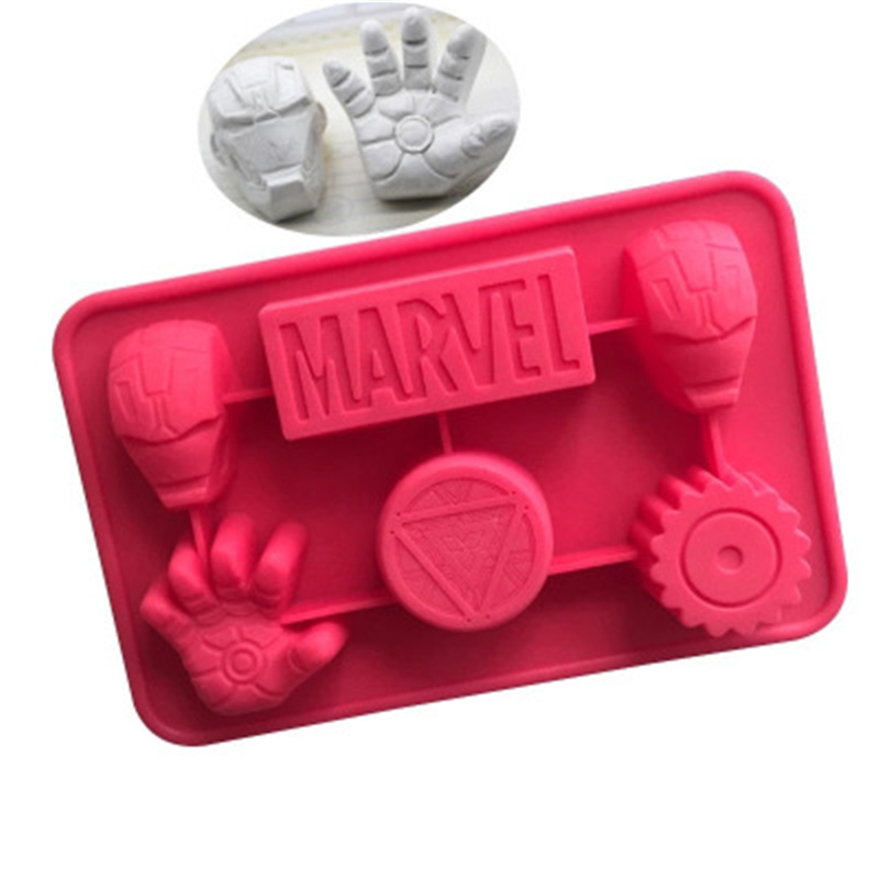 Silicone Soap Mould Iron Man Heroic Figure Cake Mould Aromatic Plaster Mould DIY Hand Can Microwave Oven Applicable Easy Clean