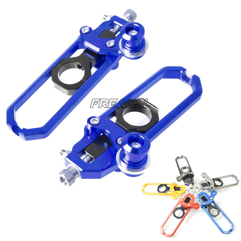 For BMW S1000RR S1000R S1000 RR R HP4 FREAXLL CNC Aluminum Motorcycle Chain adjuster Regulator Tensioners Catena With Spool