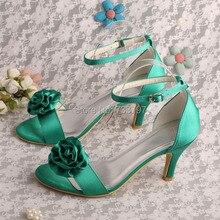 Wedopus MW397 Фирменное Наименование Зеленый Атласная Обувь Свадебные для Женщин Свадьба Dropship