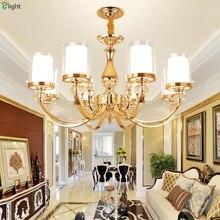 Lustre moderna de Cristal Llevó la Iluminación de la Lámpara de Oro de Metal Comedor Foyer Luz Led Lámparas Colgantes Luces Colgantes Accesorios