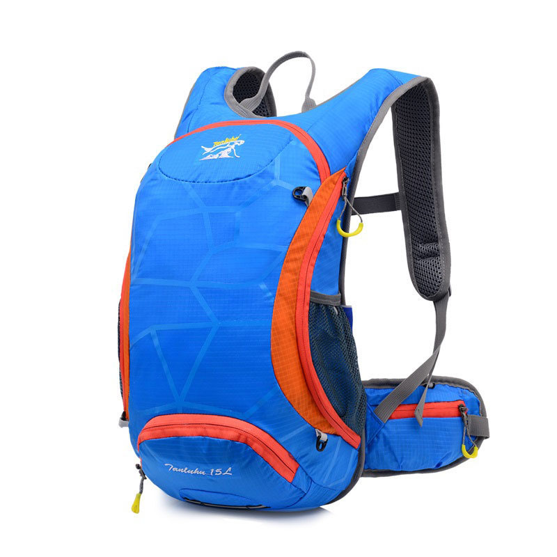 Hot Sale Nylon backpack Travel riding men and women backpack ultra-light breathable shoulder bag travel backpack with helmet bag