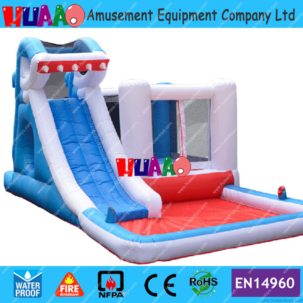 Cheap Inflatable Shark Slide with Bounce House Castle for Sale,Shark Inflatable Slide(free blower+repair kit) children shark blue inflatable water slide with blower for pool