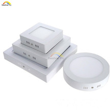 Free shipping 6W/12W/18W Round/Square Led Panel Light Surface Mounted Downlight lighting Led ceiling down AC85-265V + Driver