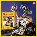 Nuevas Ideas de Pared Serie Elovable Amarillo Robot WALL-E Modelo de Construcción de Ladrillo Bloque Educativo Inteligente Legoes Juguetes de Regalo de Navidad