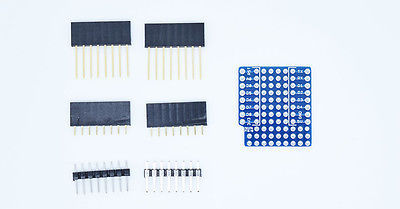 ProtoBoard Shield for WeMos D1 mini double sided perf board Compatible