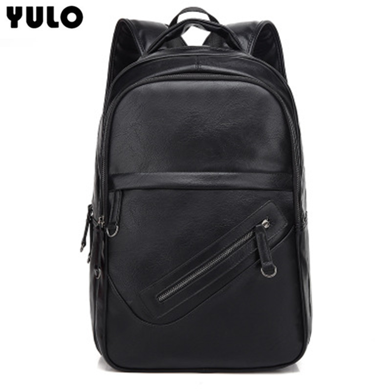 YULO For Korean PU Men's Shoulder Bag Waterproof PU Black Shoulder Men's Bag