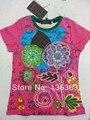 Catimini Camiseta superior 2014 niños rosa roja catimini niñas ropa de verano niños camisetas de marca