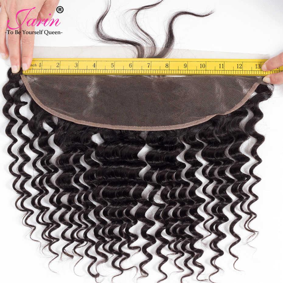 Перуанские Фронтальные 13x4 глубокая часть кружева спереди 100% человеческие волосы волнистые фронтальные для черных женщин джарин