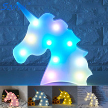 Unicornio LED Night Light Baby Unicorn Party Lamp Luminaria 3D RGB Colorful Lamp Animal Childrens Gift Bedroom Table Decoration