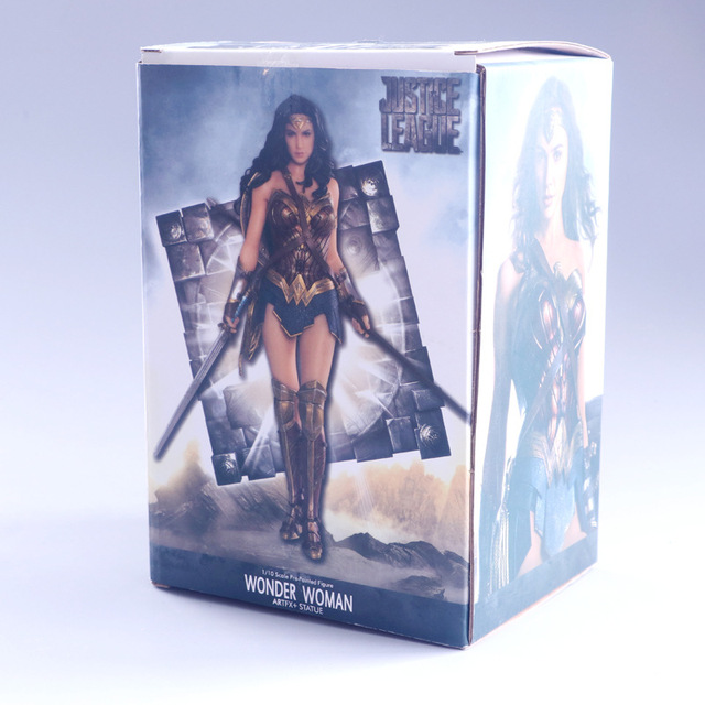 Hot DC Comic Film Justice League Super Heroes Wonder Woman Gal Gadot Statue Kotobukiya 18cm Figure Figurine Toys