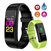 Sports Smart Band Heart Rate Fitness Tracker Bracelet Waterproof Smartband Blood Pressure Wristband Watch Men