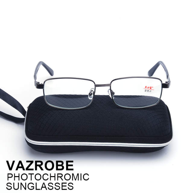 bda0f68637 Vazrobe Glass Photochromic glasses Men Women Chameleon eyeglass transition  sunglasses Change to Brown grey clear