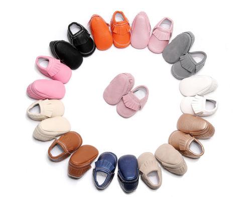 New Fashion Newborn Toddler Baby Girl Boy Soft Tassel Crib Shoes PU Leather Sneaker Prewalkers 0-18M