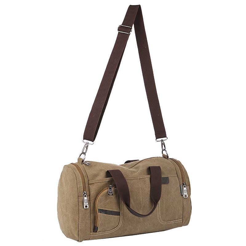 a55b7c7d5e58 ... Спортивные холстяные сумки для спортзала, путешествий от русского  дизайнера, новая женская мужская повседневная ручная ...
