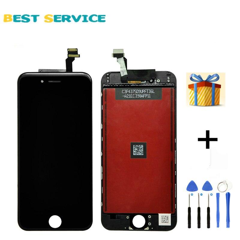 """imágenes para Grado AAA 5.5 """"para iphone 6 plus pantalla lcd display + touch screen digitalizador asamblea negro blanco + herramientas de envío gratis"""