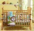7 peças lovely baby crib bedding set floresta leão impresso bebê cuna boy crib bedding set lençóis de berço crib bumper saia colchão
