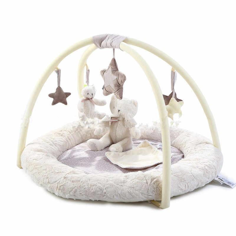 <3 года детский коврик для ползания игровой одеяло развивающий детский игровой коврик музыкальный медведь стойка для фитнеса детский спортивный меховой коврик игрушки для малышей