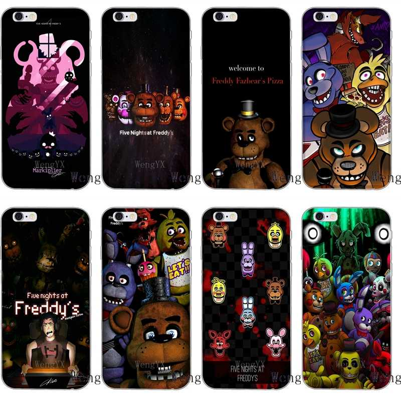 Five Nights At Freddy's FNAF Slim silicone Soft phone case For iPhone X 8  8plus 7 7plus 6 6s plus 5 5s 5c SE 4 4s