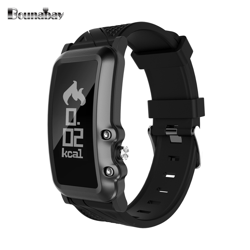 BOUNABAY Smart Bluetooth watch for men original man sports mens apple android ios phone watches 3g waterproof Heart Rate clock bounabay heart rate monitor smart bracelet watch women bluetooth for apple android ios phone woman touch clock ladies watches