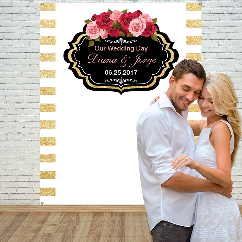 ФОТО Allenjoy Background Photography customized Wedding Anniversary photography backdrops Holiness wedding ceremony background